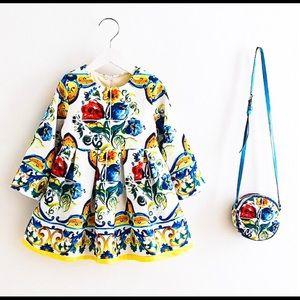 Other - Toddler little girls formal dress bag set blue